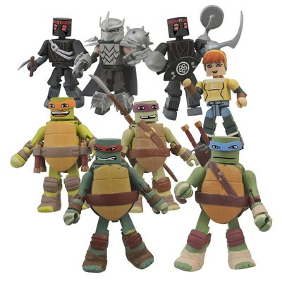 Teenage Mutant Ninja Turtles Minimates Foil Bmb Counter Display JUL142033U