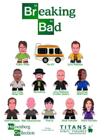 Breaking Bad Titans Mini Figure 20pc Bmb Ds JUL142334U