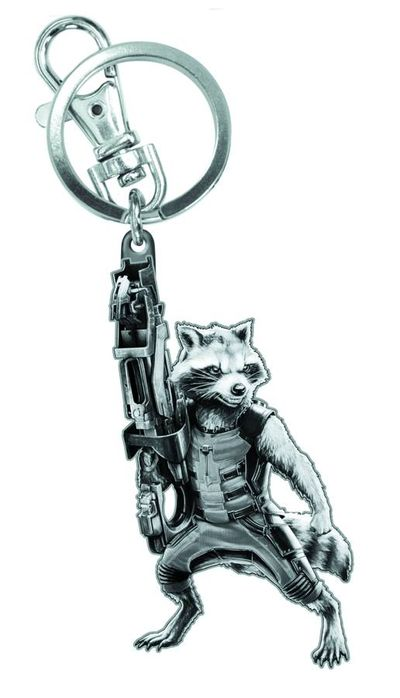 Guardians of the Galaxy Rocket Raccoon Figural Pewter Keyring JUL142489F