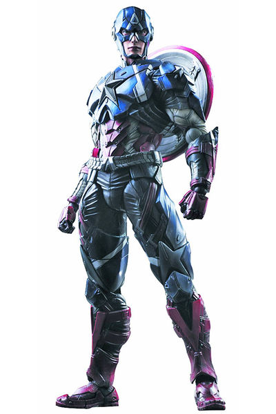 Marvel Comics Variant Play Arts Kai Captain America Action Figure JUL158280I