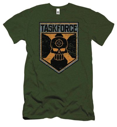 Image of Suicide Squad Task Force Shield Previews Exclusive Military Green T-Shirt XL