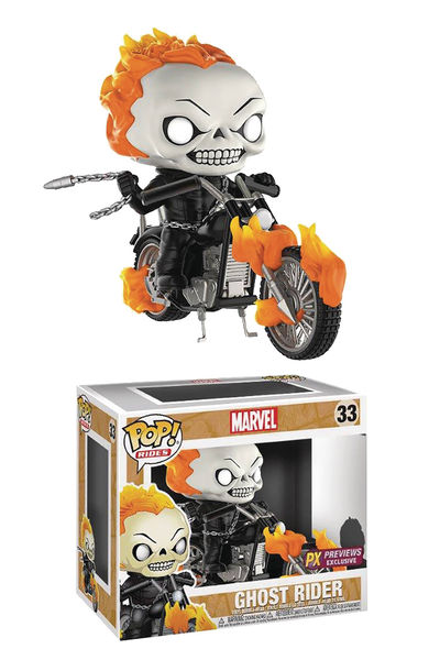 Pop Rides Marvel Classic Ghost Rider with Bike Previews Exclusive Vinyl Figure