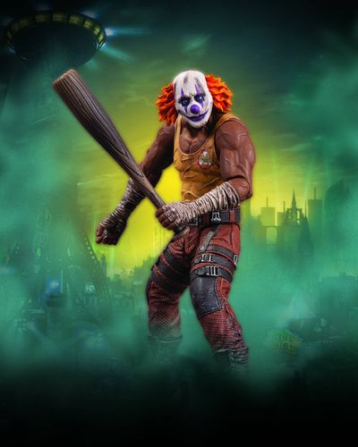 Batman Arkham City Series 3 Clown Thug With Bat Action Figure JUN120302J
