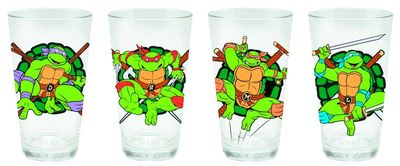 TMNT 4 Pc 16 Oz Glass Set
