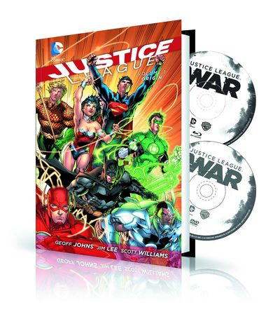 Justice League Vol. 01 HC Origin Book & DVD Blu Ray Set MAR158508J