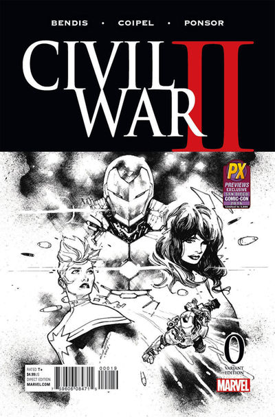 SDCC 2016 Exclusive Civil War II #0 (Coipel Black & White Variant Cover Edition)