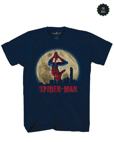 Image of Spider-Man Homecoming City Hanger Navy T-Shirt XXL
