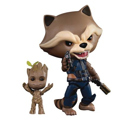 Guardians of the Galaxy 2 EAA-049 Rocket W/ Kid Groot PX Action Figure MAR178707J