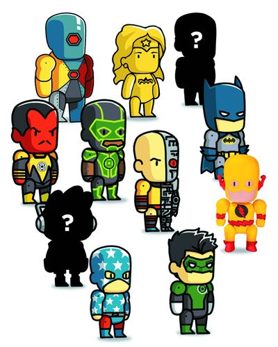 Scribblenauts Unmasked Bmb Mini Figures Series 3 MAY140434Y