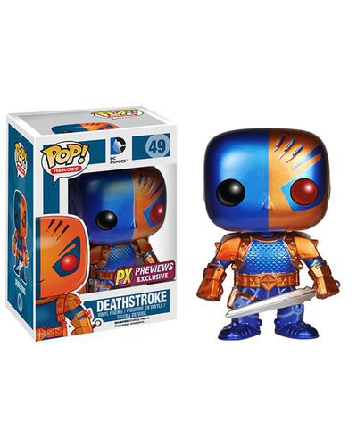 Pop Heroes Deathstroke Previews Exclusive Vinyl Figure (Metallic Version) JAN148306I