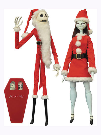 NBX Santa Jack & Sally Coffin Doll Ltd Set MAY162395U