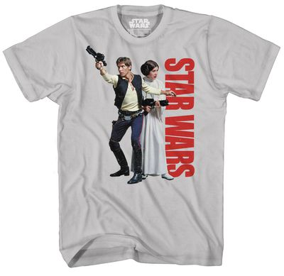 Image of Star Wars Han Not Solo Softhand Ink Previews Exclusive Silver T-Shirt XL