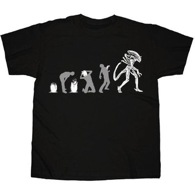 Image of Alien Evolution Black T-Shirt XXL