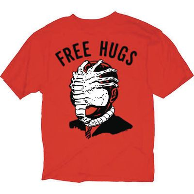 Image of Alien Free Hugs Red T-Shirt XL