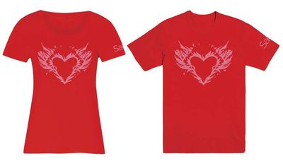 Image of Saga Burning Heart Womens MED T-Shirt