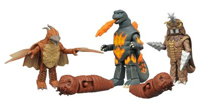 Godzilla Minimates Series 3 Set NOV152190U