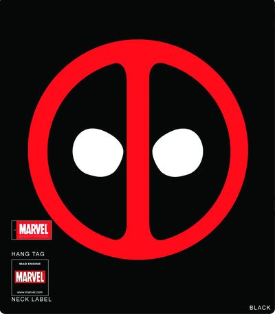 Image of Deadpool Icon Blk T-Shirt XXL