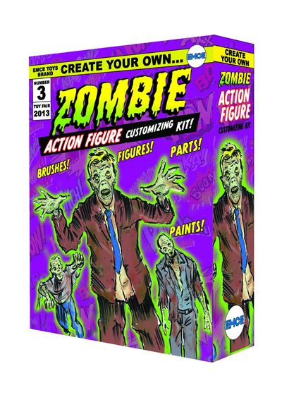 Create Your Own Zombie Action Figure Previews Exclusive Kit OCT131942U