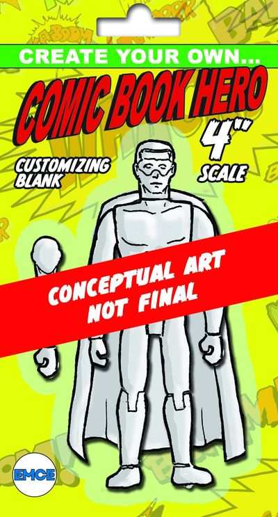 Create Your Own Comic Hero Previews Exclusive Std Male 4in Action Figure OCT131943U