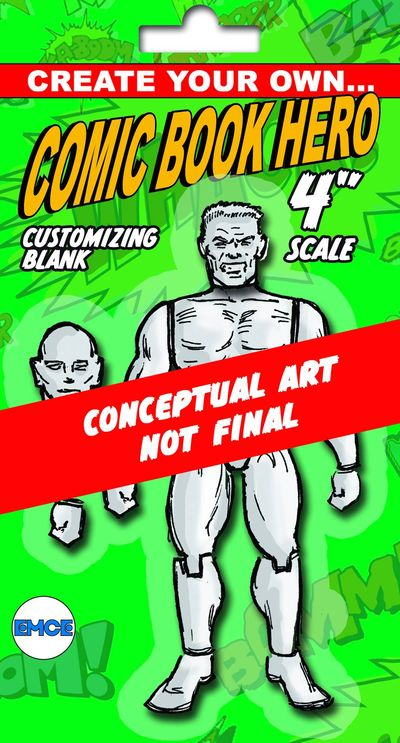 Create Your Own Comic Hero Previews Exclusive Super Male 4in Action Figure OCT131945U