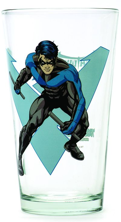 Toon Tumblers Nightwing Clear Pint Glass OCT132220I