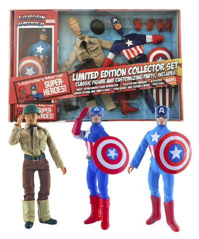 Marvel Le Captain America 8in Retro Action Figure Set SEP142256U