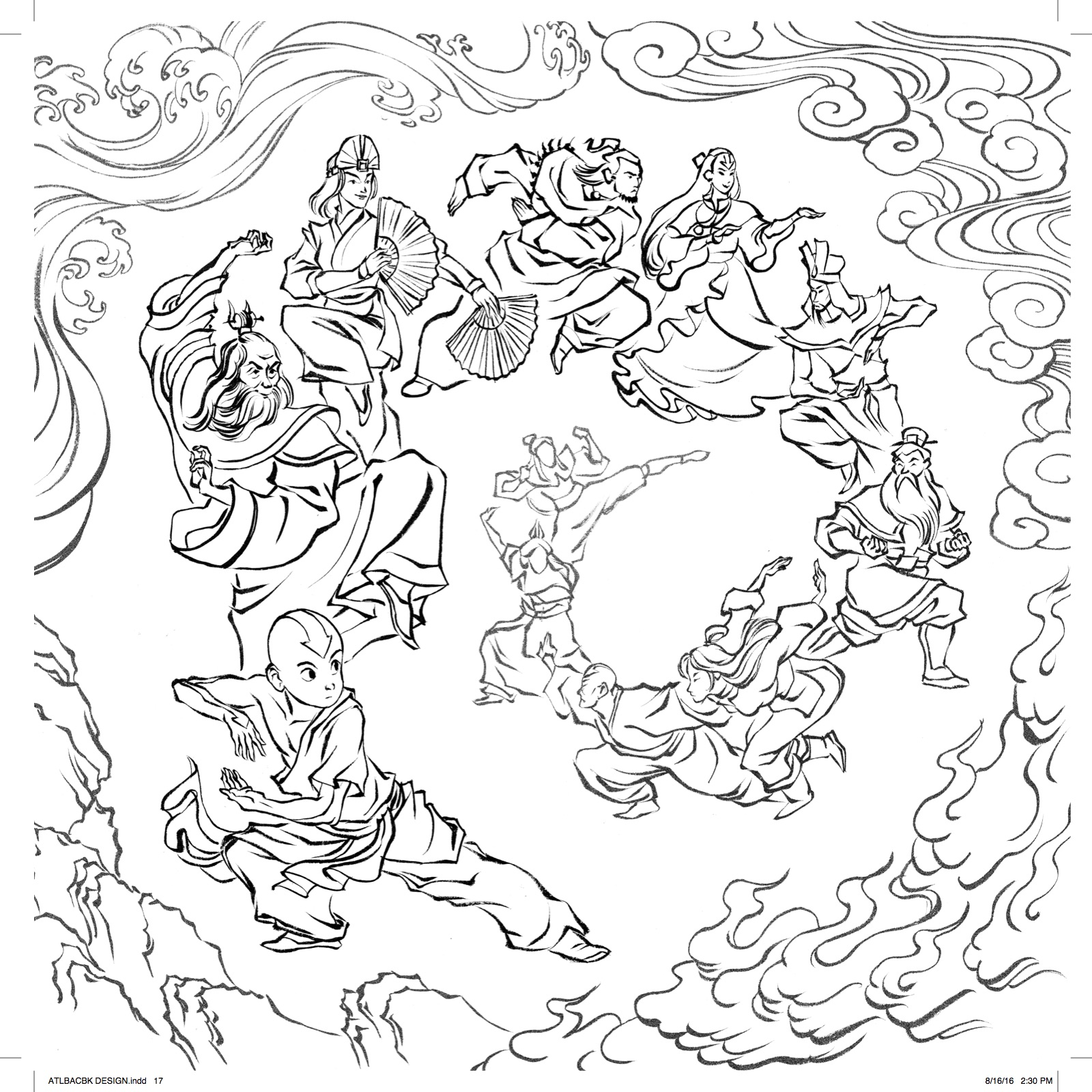 Avatar month 2016 coloring contest blog dark horse for Avatar coloring pages