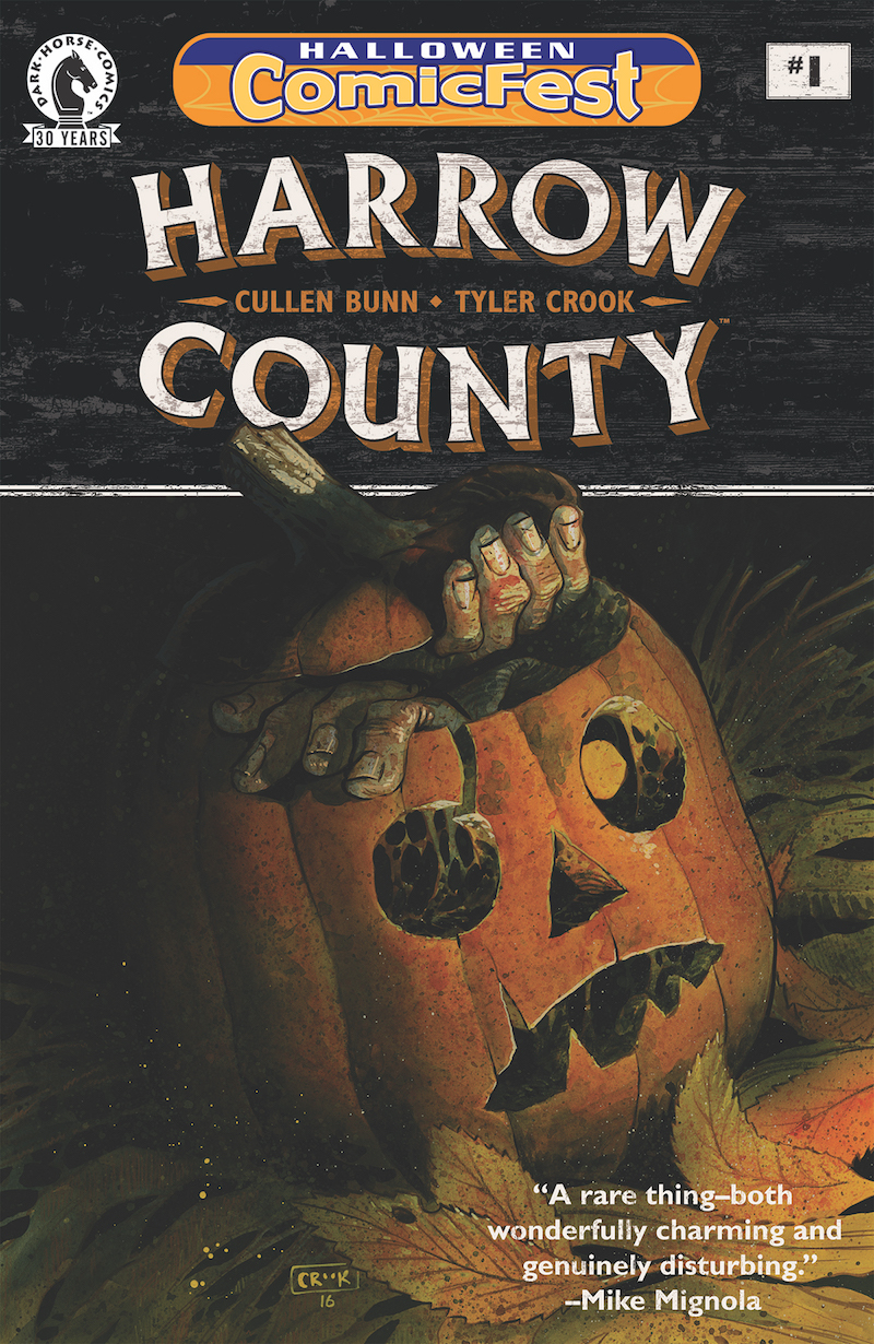 dark horse is proud to announce that harrow county 1 is being offered as part of the fifth halloween comicfest celebration
