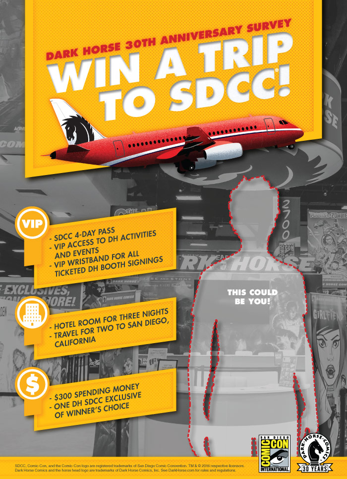 Win a Trip to SDCC! :: Blog :: Dark Horse Comics