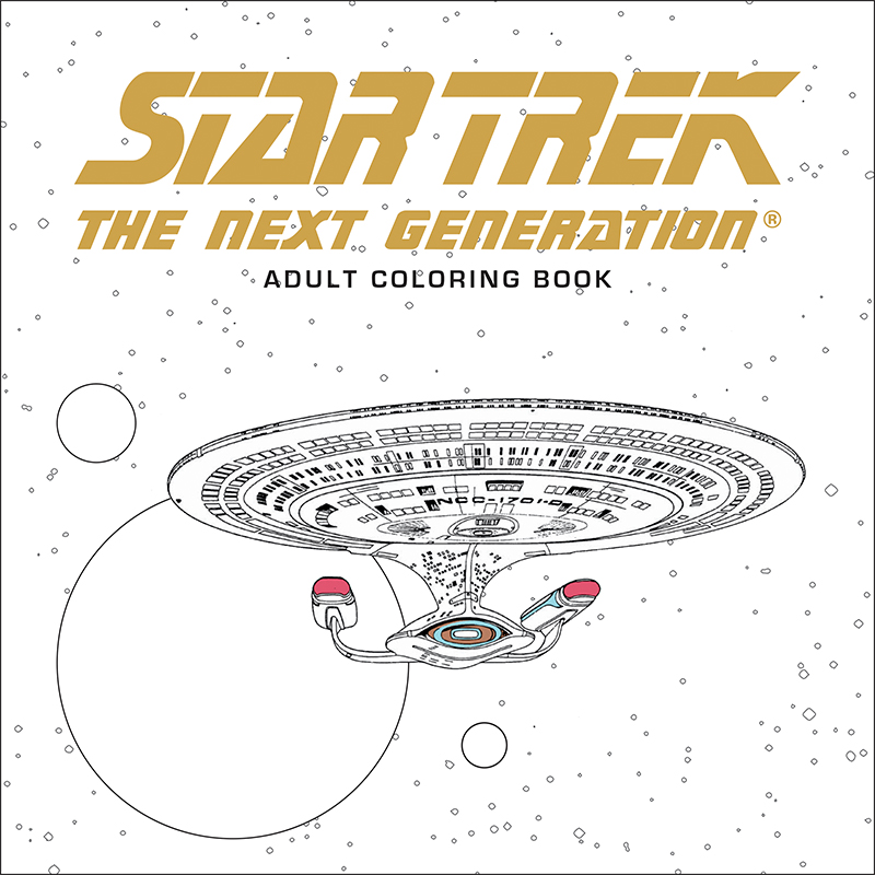 series adult coloring book and star trek the next generation adult coloring book are in stores on october 19 preorder your copy today at your local - Star Trek Coloring Book