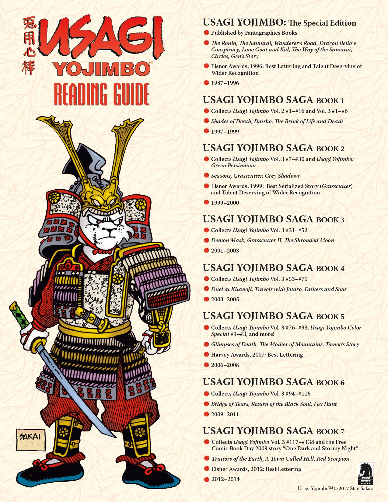 Usagi Yojimbo Reading Guide :: Blog :: Dark Horse Comics