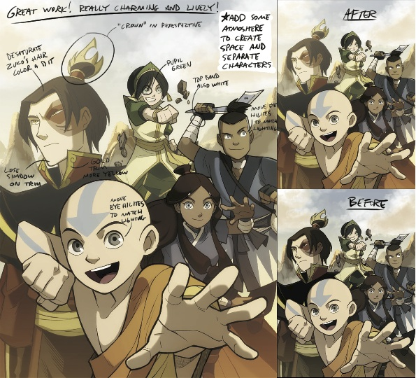 Making Of A Cover -Avatar The Last Airbender  Blog  Dark Horse Comics-8457