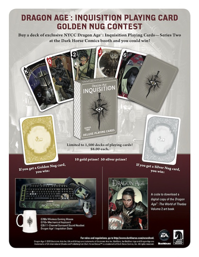 Dark Horse Deluxe Dragon Age Inquisition Playing Cards