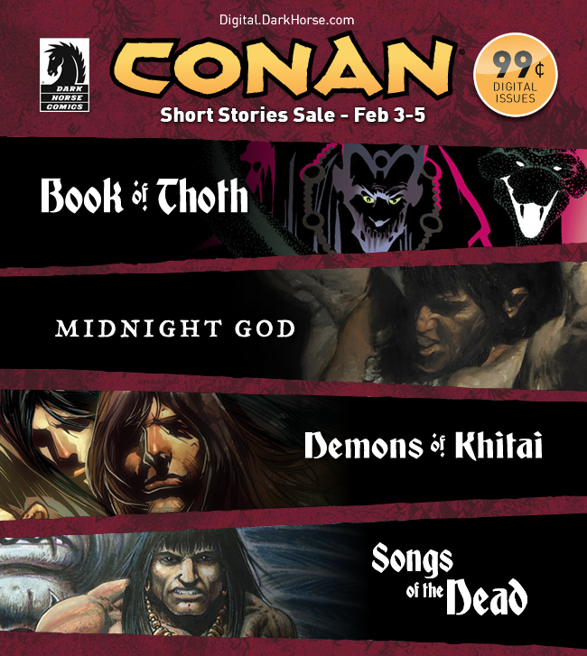 Conan The Barbarian digital comic sale going on now!