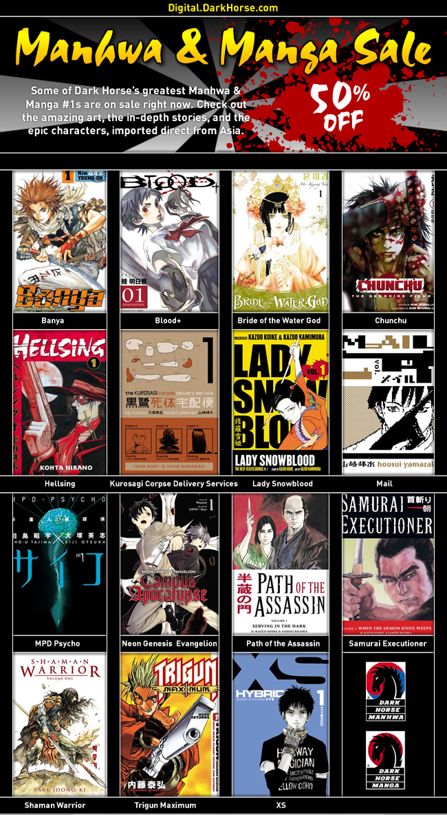 Manhwa and Manga Sale happening now